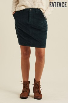 FatFace Green Cara Cord Skirt