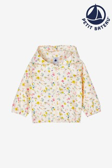 Petit Bateau Yellow Floral Windbreaker Jacket