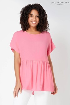 Live Unlimited Soft Pink Smock Top