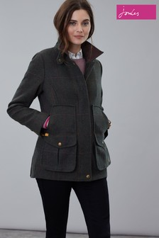 Joules Dark Green Fieldcoat Tweed Jacket