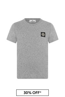 Boys Dark Grey Cotton T-Shirt