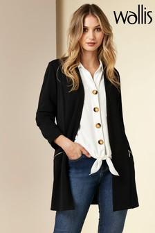 Wallis Black Longline Jacket