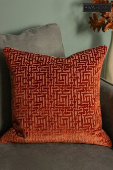 Delphi Velvet Jacquard Cushion by Riva Home