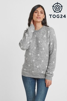 Tog 24 Grey Layla Womens Knit Jumper
