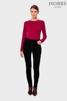 Hobbs Black Velvet Marianne Jeans