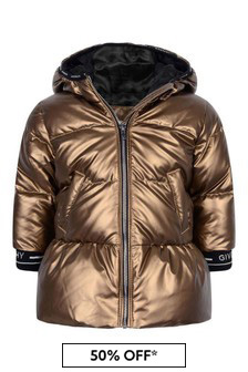 Baby Girls Gold Down Padded Padded Jacket