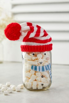 Snowman Marshmallow Sweet Jar
