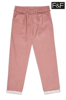 F&F Pink Cord Trousers
