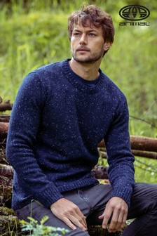 Animal Indigo Blue Smedmore Knitted Jumper