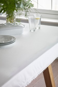 Lace Trim Tablecloth