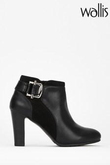 Wallis Black Anna Feature Trim Shoe Boots