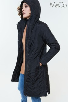 M&Co Quilted Hood Jacket