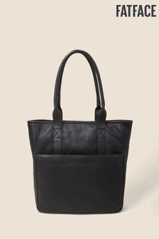 FatFace Black Polly Portrait Tote