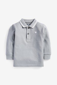Long Sleeve Plain Poloshirt (3mths-7yrs)