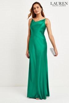 Lauren Ralph Lauren® Green Bonnie Stretch Satin Dress