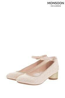 Monsoon Pink Honey Lace Glitter Jazz Heel Shoes
