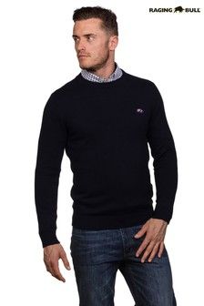 Raging Bull Navy Signature Crew Neck Sweater