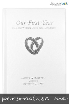 Personalised Our First Year Keepsake Book by Signature Book Publishing