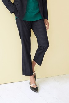 Textured Tailored Slim Trousers