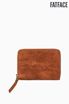 FatFace Brown Quin Quilted Suede Purse
