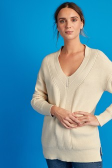Long V-Neck Jumper