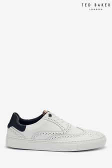Ted Baker White Dennton Leather Brogue Trainers