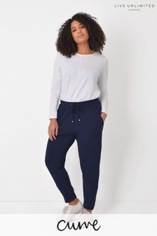Live Unlimited Navy Slim Leg Joggers