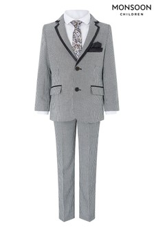 Monsoon Children Grey Dylan Dogtooth 4 Piece Set