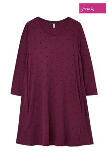 Joules Purple Elora Long Sleeve Jersey Swing Tunic