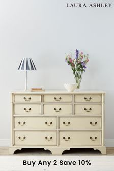 Clifton Ivory 6+4 Drawer Chest by Laura Ashley