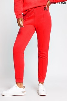 River Island Red Branded Joggers