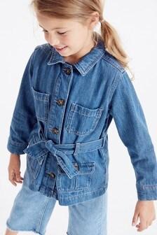 Longline Belted Denim Jacket (3-16yrs)