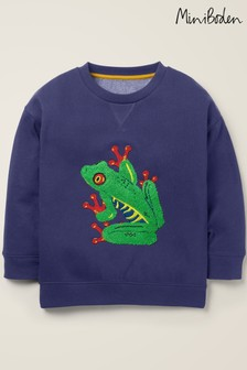 Boden Blue Animal Appliqué Sweatshirt
