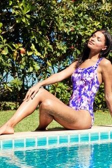Figleaves Purple Samui Strappy Back Tummy Control Swimsuit