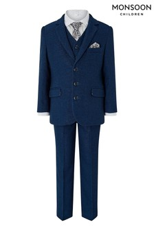 Monsoon Children Blue Hudson 5 Piece Suit Set
