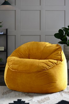 Velvet Shell Back Bean Chair