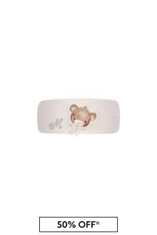 Baby Girls Pink Cotton Teddy Headband