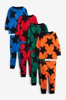 4 Pack Snuggle Pyjamas (9mths-12yrs)