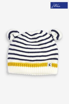 Joules Cream Hat And Mittens Set