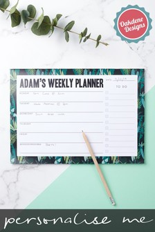 Personalised Weekly Planner by Oakdene Designs