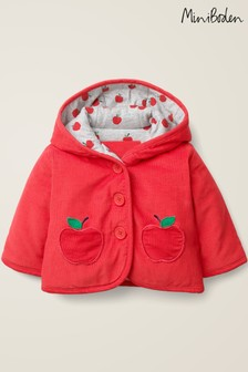 Boden Red Cosy Cord Jacket