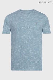 AllSaints Blue Mixed Stripe Owen T-Shirt