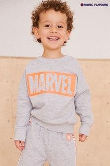 Fabric Flavours Grey Marvel® Avengers Neon Logo Sweatshirt