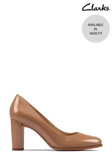 Clarks Praline Patent Kaylin Cara 2 Shoes