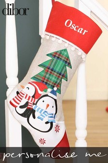 Personalised Penguin Pals Christmas Stocking by Dibor