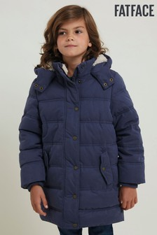 FatFace Blue Longline Padded Jacket