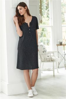 Nursing Button Dress