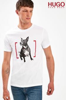 HUGO Duppy Mastiff Print T-Shirt