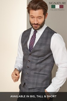 Slim Fit Signature Check Suit: Jacket