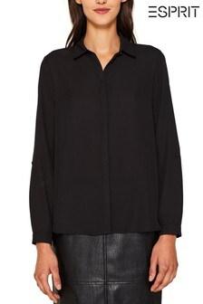 Esprit Black Crepe Shirt